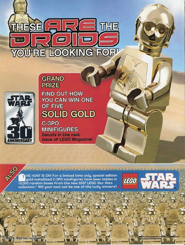 C-3PO en or massif 14 Carats [Solid Gold C-3PO]