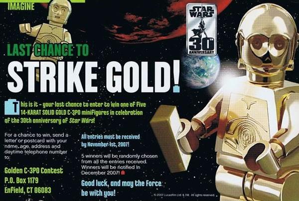 C-3PO en or massif 14 Carats [Solid Gold C-3PO]