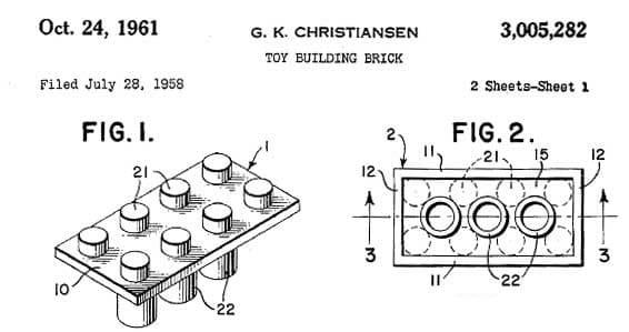 LEGO Patent 24/10/1961