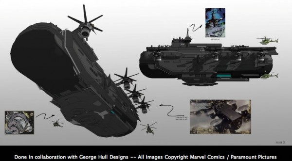The Avengers 2012 - Concept Art Officiel du Helicarrier