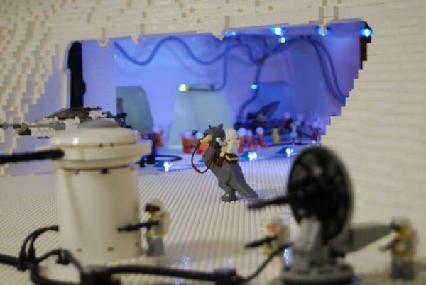 Custom Tauntaun - Brickplumber Hoth Diorama