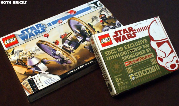 2008 Comic Con Exclusive Clone Wars Set & 2009 Mini Republic Dropship Mini AT-TE Brickmaster Pack