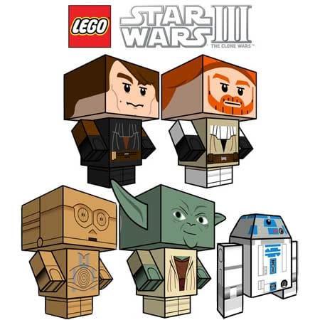 LEGO Star Wars 3 Papercraft - Cubee Clone Wars Series