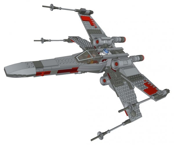 9493 X-Wing Starfighter - Grey version by BrickBoys