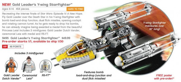 9495 Gold Leader's Y-Wing Starfighter