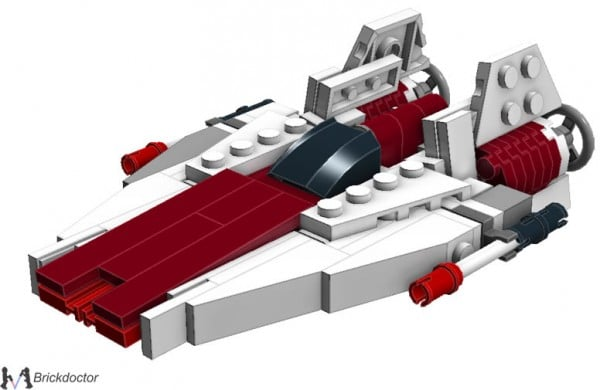 Midi-Scale RZ-1 A-Wing par Brickdoctor