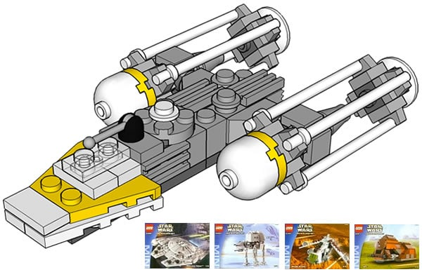 mini Y-Wing from sets 4488, 4489, 4490, 4491