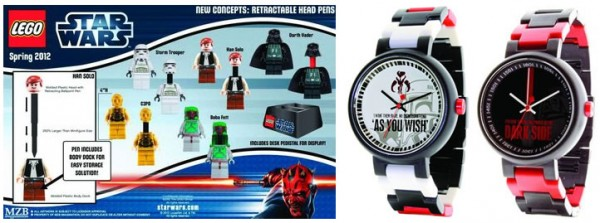 New LEGO Star Wars 2012 Watches & Pens