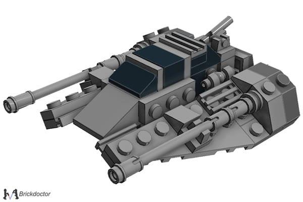 Midi-Scale T-47 Snowspeeder par Brickdoctor