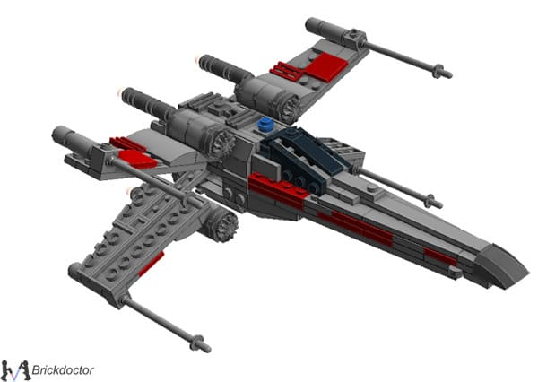 Midi-Scale X-Wing par Brickdoctor