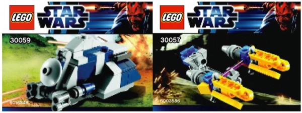 30057 Anakin's Podracer & 30059 MTT