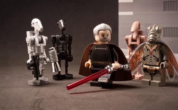 Custom LEGO Count Dooku & Assassin Droids par CAB & Tiler