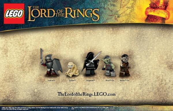 LEGO Lord of the Rings - Uruk-Hai, Gollum, Ringwaith, Moria Orc & Mordor Orc