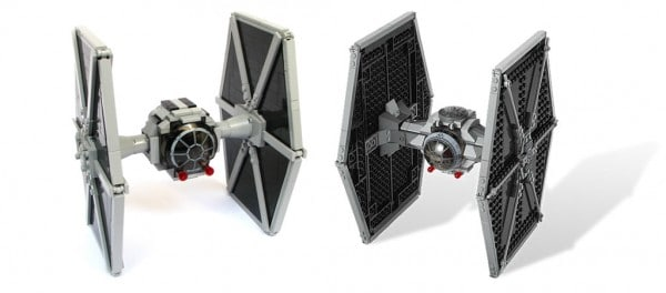 TIE Fighter par 2x4 - LEGO Star Wars 9492 Tie Fighter