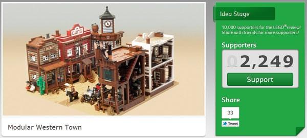 LEGO CUUSOO Project : Modular Western Town par marshal_banana