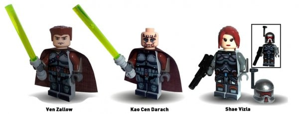 Green Pea Toys Customs - Ven Zallow, Kao Cen Darach & Shae Vizla