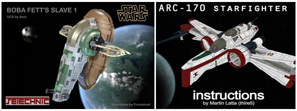 Anio Slave I instructions & thire5 ARC-170 instructions