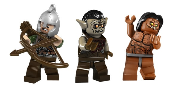 thelordoftherings.lego.com . Rohan Soldier, Mordor Orc & Lurtz