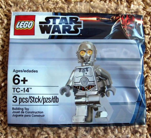 LEGO Star Wars TC-14 Chrome Silver Exclusive Minifig - May the 4th Promotion