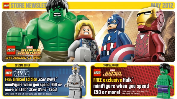 LEGO Store Calendar May 2012 UK