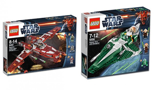 LEGO Star Wars 9497 Republic Striker Starfighter & 9498 Saesee Tiin's Starfighter