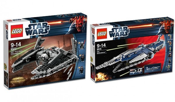 LEGO Star Wars 9500 Sith Fury-Class Interceptor & 9515 Malevolence