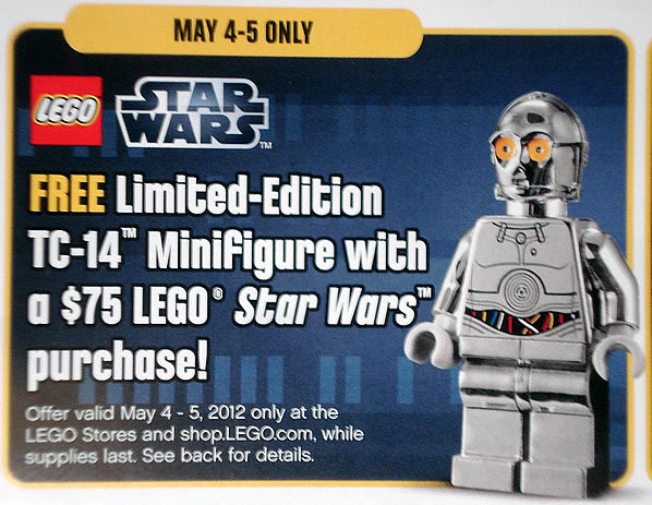 LEGO Star Wars - Free Limited-Edition TC-14 Minifigure - May 4 & May 5 2012