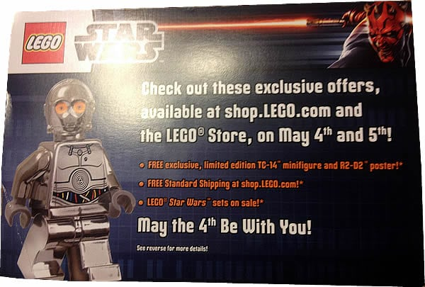 LEGO Star Wars - mMay the 4th promotional postcard