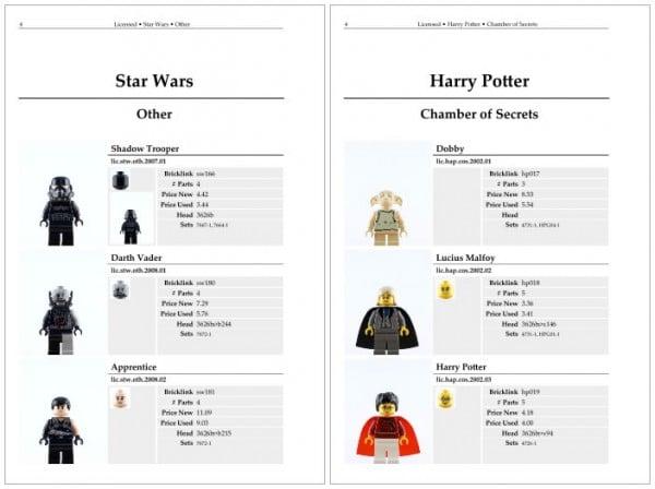 The Star Wars Lego Minifigure Catalog & The Harry Potter Lego Minifigure Catalog