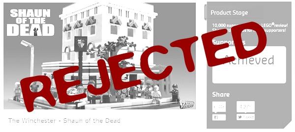 LEGO Cuusoo : Le Winchester ne se fera pas....
