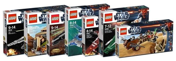lego star wars 2012 9496 9497 9498 9499 9500 9515 9516