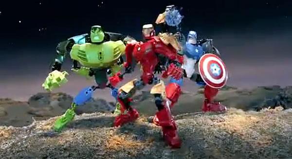 4529 Iron Man, 4530 Hulk & 4597 Captain America