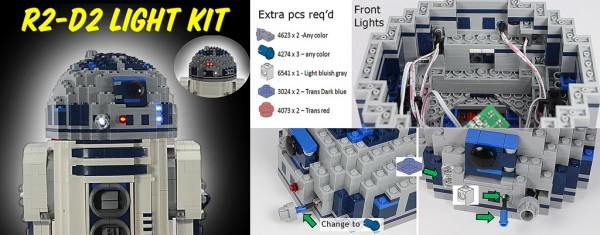 10225 UCS R2-D2 Light Kit @ Artifex Creation