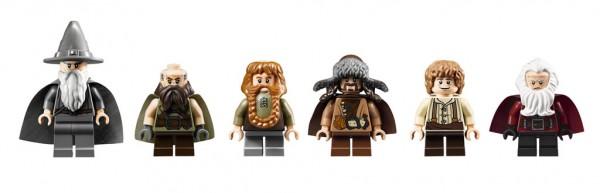 LEGO The Hobbit Minifigs : Gandalf, Dwalin, Bombur, Bofur, Bilbo & Balin