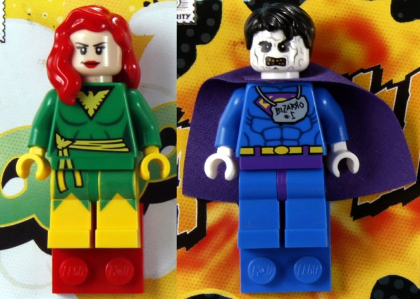 SDCC 2012 - LEGO Super Heroes DC & Marvel Exclusive Minifigs - Bizarro & Phoenix