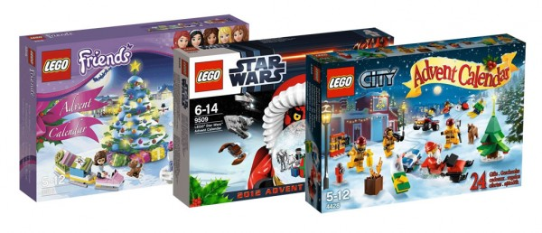 LEGO 2012 Advent calendars : 3316 (Friends), 9509 (Star Wars) & 4428 (City)
