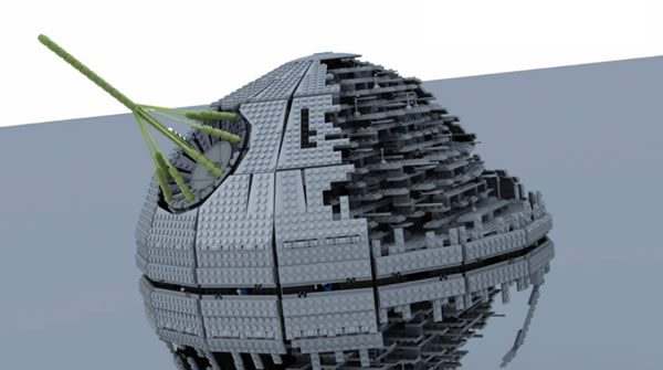 LEGO Death Star II Stop Motion Assembly 3D - Francisco Prieto