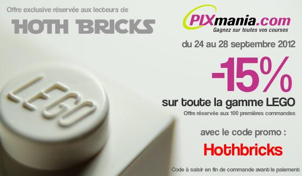 Offre Exceptionnelle : -15% sur toute la gamme LEGO avec Pixmania et Hoth Bricks