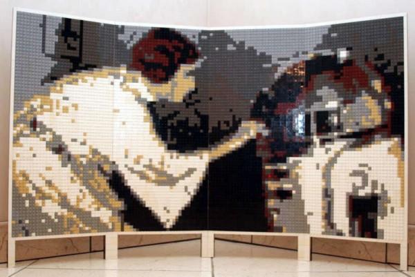 LEGO Star Wars - Leia & R2-D2 Mosaic by DanSto