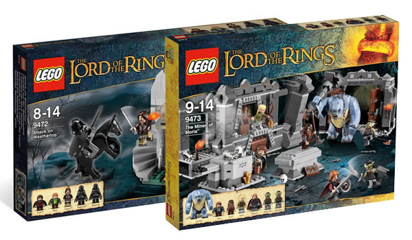 LEGO Lord of the Rings - 9472 Attack on Weathertop & 9473 The Mines of Moria