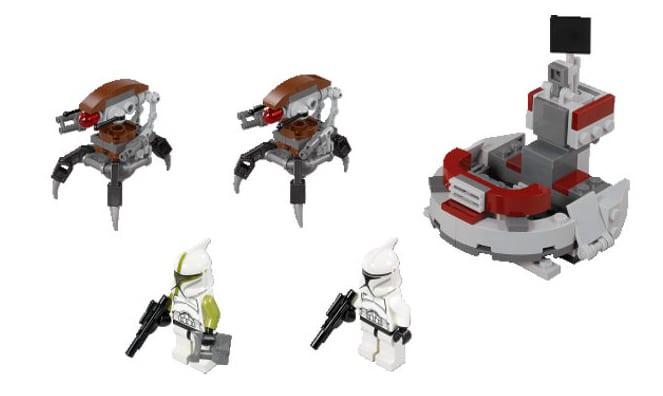 lego star wars 75000 clone troopers vs droidekas battle pack - Lego Star Wars Vaisseau Clone