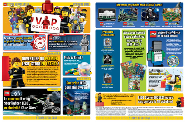 LEGO Store Calendar - Octobre 2012 - France