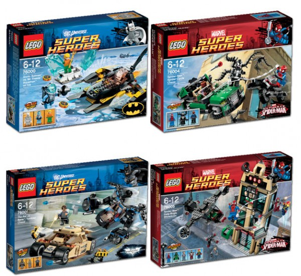 76000 Batman vs. Mr Freeze - Aquaman on Ice & 76004 Spider-Man - Spider-Cycle Chase
