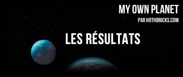 Concours My Own Planet : Les résultats