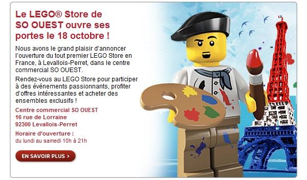 Le LEGO® Store de  SO OUEST ouvre ses portes le 18 octobre !