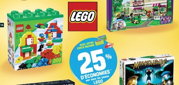 -25% chez Auchan sur toute la gamme LEGO du 24 au 26 octobre 2012