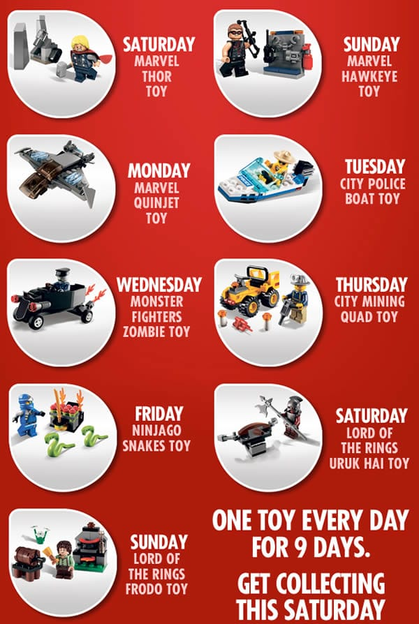 The Sun : Free LEGO Toys are back - 27/10/2012 - 4/11/2012