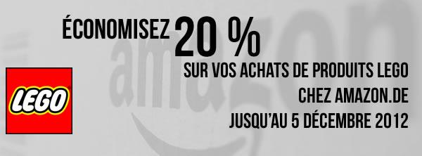 20% de remise sur toute l'offre LEGO chez amazon.de