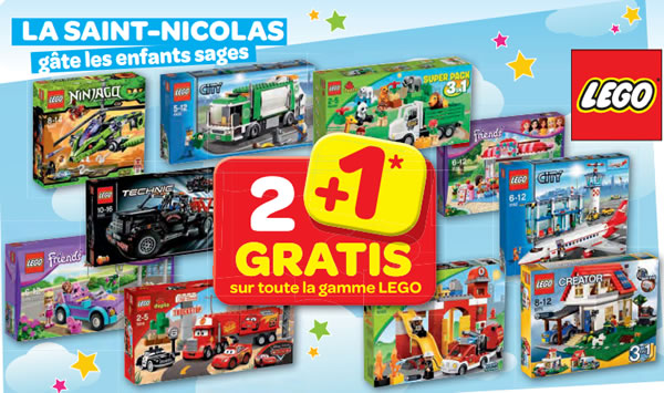 carrefour belgique achetez 3 boites de lego payez en 2. Black Bedroom Furniture Sets. Home Design Ideas