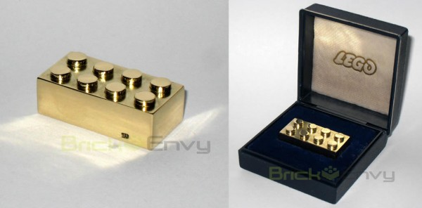 LEGO Real Solid Gold 2x4 Brick